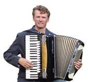 Accordionist Valto Savolainen from Finland